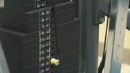 Stock Video Footage of Gym equipment counterweight