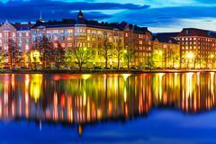 Evening scenery of Helsinki, Finland - stock photo