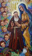 Saint Leopold Mandic with Blessed Virgin Mary Stock Photos