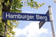 Stock Photo of Hamburger Berg Street Sign