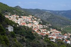 Smokvica, Korcula island Croatia - stock photo