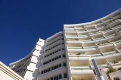 Tunisian modern architecture Stock Photos