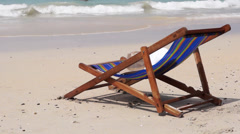 Lounge on the sea beach of Thailand 20140312081105 Stock Footage