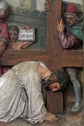 7th Stations of the Cross - stock photo
