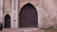 The polka dots gate of the old castle Stock Footage
