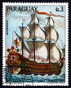 Postage stamp Paraguay 1976 Kaiser Leopold, 1667, Painting - stock photo