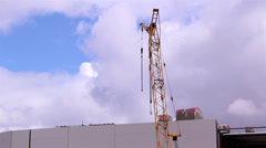 A crane on standby Stock Footage