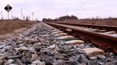 Stock Video Footage of the metal railroads