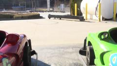 Go Carts in the Sun Stock Footage
