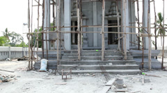 New temple under construction Stock Footage