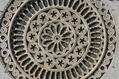Rosette, saint Francis sanctuary in Assisi Stock Photos