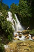 waterfall in northern colombia - stock photo