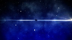 Abstract space scene Stock Footage