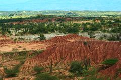 Tatacoa desert in colombia Stock Photos