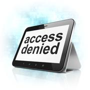 Protection concept: Access Denied on tablet pc computer Stock Illustration