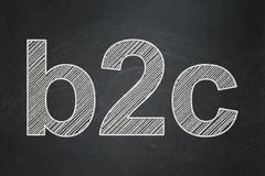 Business concept: B2c on chalkboard background Stock Illustration