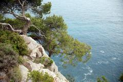 Pictorial blue Adriatic sea  Stock Photos