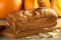fresh baked pumpkin bread - stock photo