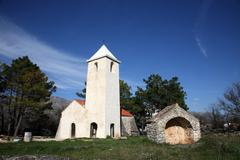 Small rural church in Croatia - stock photo