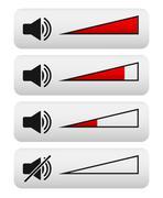 Volume control, digital volume knobs Stock Illustration