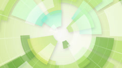 Green circular segments loop background Stock Footage