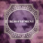 Achievement Concept. Purple Vintage design. Stock Illustration