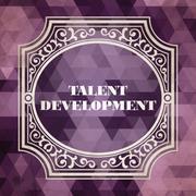 Talent Development Concept. Purple Vintage design. - stock illustration