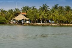 a tiny island in the caribbean archipelago san bernardo near tolu, colombia - stock photo