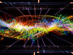 Acceleration of Molecules Stock Illustration