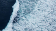 Beautiful crushing waves - stock footage
