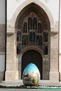 Giant Easter egg - stock photo