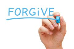 Forgive blue marker Stock Illustration
