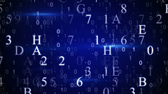digital hexadecimal data loopable background - stock footage