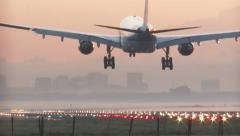Schiphol sunrise 4k MainConcept AVC-AAC ax1[2].mp4 Stock Footage