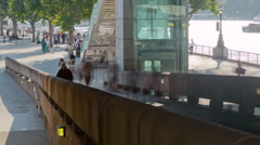 Southbank Under Bridge 16x9 Stock Footage