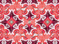 Ornament swirls retro background Stock Illustration