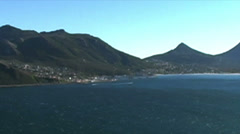 1402 Mountians by Ocean at the Tip of Africa Stock Footage