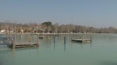 Balatonfured Hungary Pier  Stock Footage