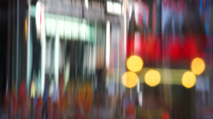 Stretched reflection of Times Square Stock Footage