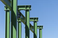 Gantry crane - stock photo