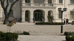 Balatonfured Hungary Sanatorium Heart Hospital Square 9 Stock Footage