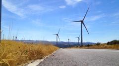 Windmill landscape Stock Footage