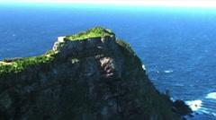 1413 Mountains Cliffs at the Tip of Africa with the Indian and Atlantic Oceans Stock Footage