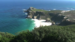 1408 Cliff Cove at the Tip of Africa with the Indian and Atlantic Oceans  Stock Footage