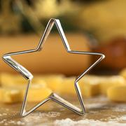 star-shaped cookie cutter - stock photo