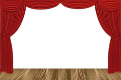 Red drapes Stock Illustration