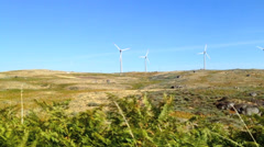 windmill landscape - stock footage