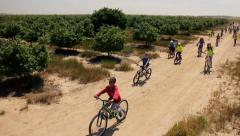 children bicycle Nature - stock footage