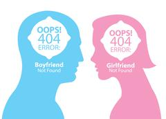 Stock Illustration of boyfriend and girlfriend not found