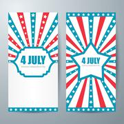 4 july card template Stock Illustration